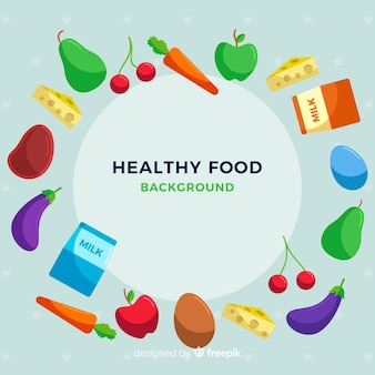 Colorful healthy food background