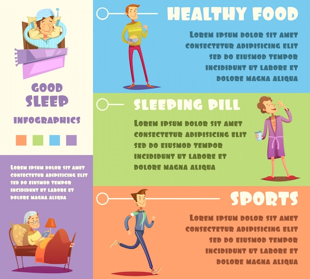 Colorful healthy life infographics