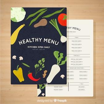 Colorful healthy menu template