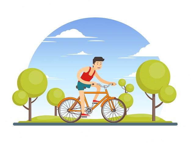 Красочная концепция образа жизни здорового спорта