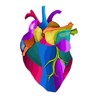 Красочное сердце в стиле поп-арт