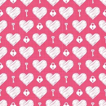 다채로운 하트 패턴입니다. 휴일 서식 파일에 대 한 발렌타인 데이 배경입니다. 창의적이고 고급스러운 스타일의 일러스트레이션