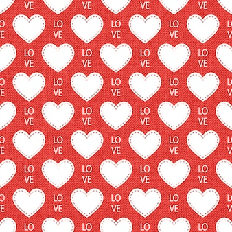 Colorful hearts pattern. valentines day background for holiday template. creative and luxury style illustration