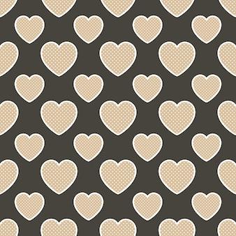 Красочный образец сердец с геометрической формой. день святого валентина фон для праздничного шаблона. креативный и роскошный стиль иллюстрации
