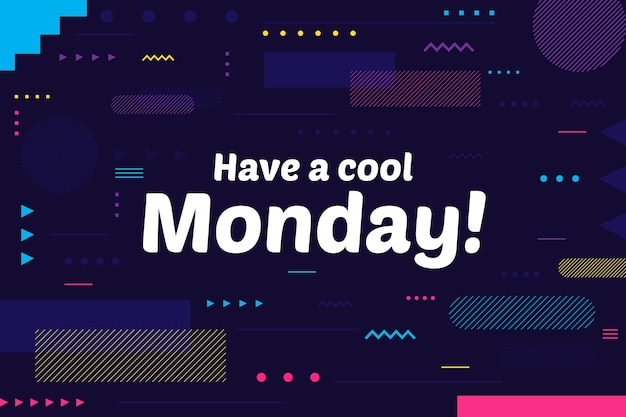 Colorful hello monday background