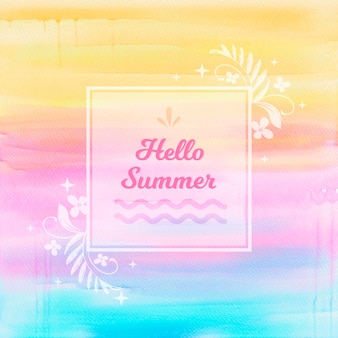 カラフルなこんにちは夏の背景