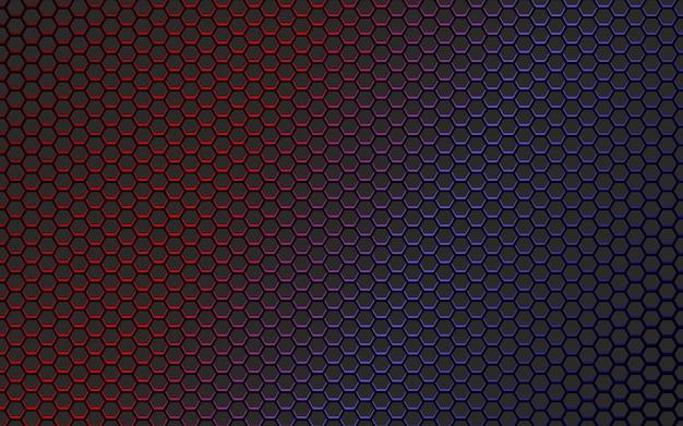 カラフルな六角形の背景デザイン
