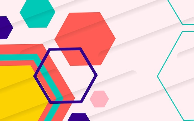 Colorful hexagonal background