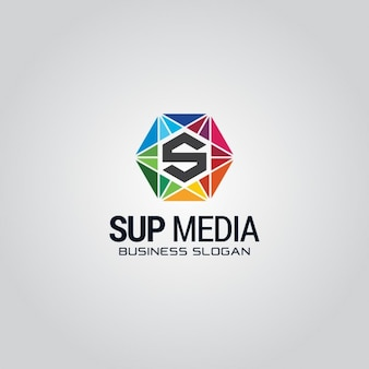 Colorful hexagonal logo with the letter s