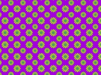 Colorful hippie floral seamless pattern
