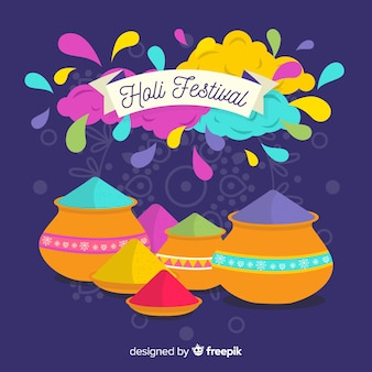 Colorful holi festival background