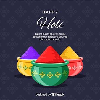 Colorful holi festival gulal background