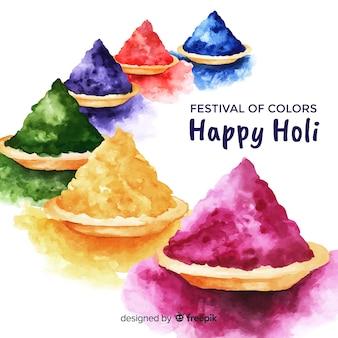 Colorful holi gulal background