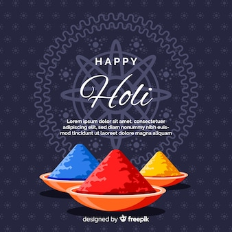 Colorful holi gulal background