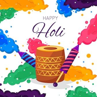 Colorful holi gulal concept