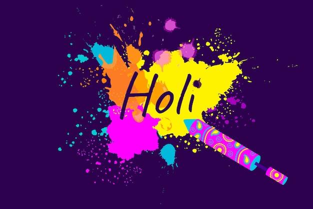 Colorful holi gulal in flat design