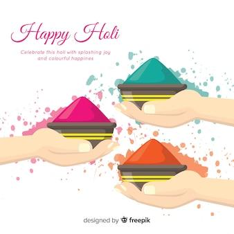 Colorful holi gulal