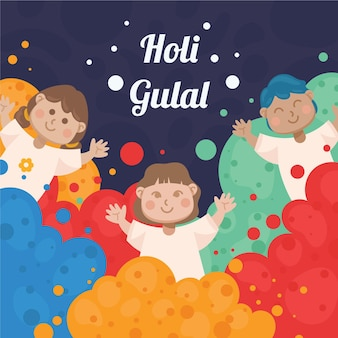 Colorful holi gulal