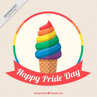 Colorful ice-cream pride day background