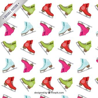 Красочный рисунок на коньках