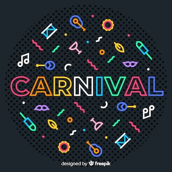 Colorful icons carnival background