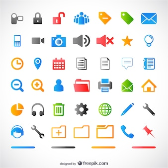 Colorful icons for web