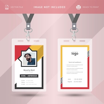 Colorful Id Card Template