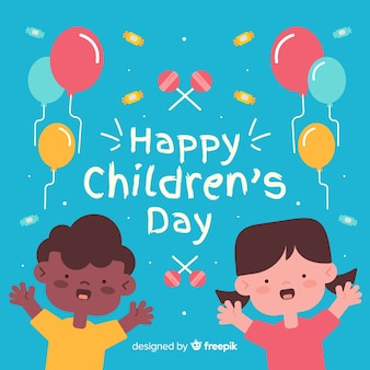 Colorful illustration to celebrate childrens day