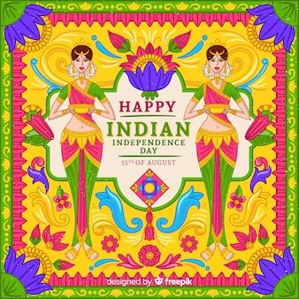 인도 배경의 화려한 독립 기념일