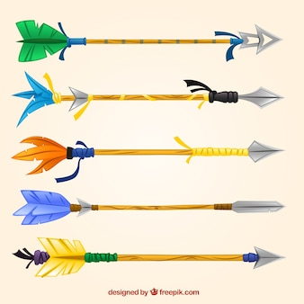Colorful indian arrows