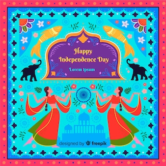 Colorful indian independence day background