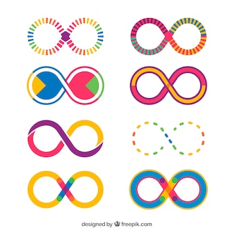 Colorful infinite symbol collection