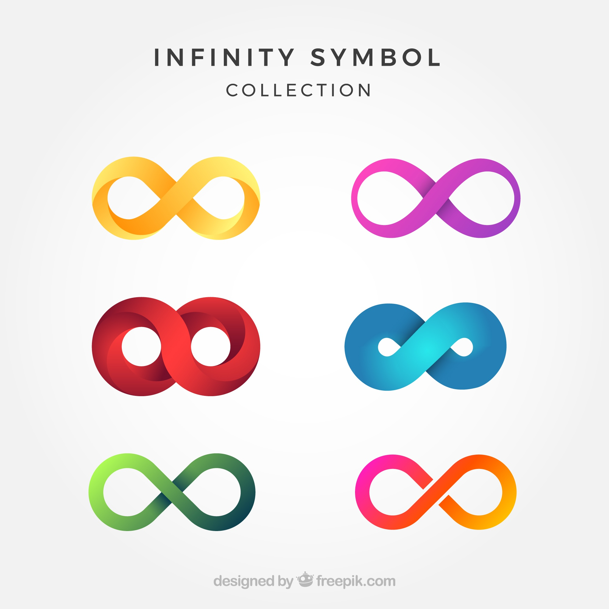 Colorful infinity symbol collection