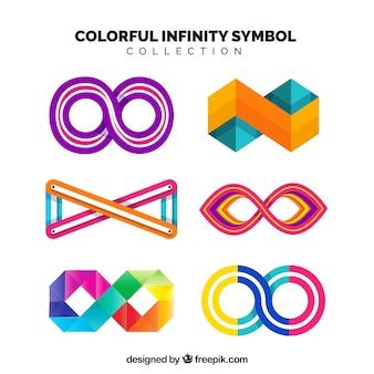 Коллекция красочных бесконечных символов