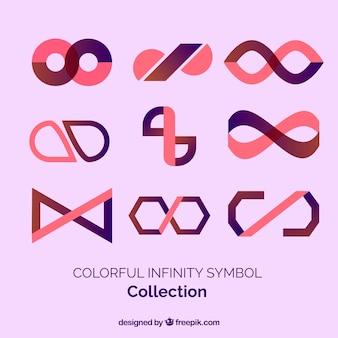 カラフルな無限シンボルコレクション