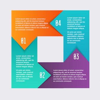 ビジネスプレゼンテーションのためのカラフルな情報グラフィック。