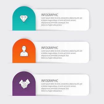 비즈니스 프레젠테이션을위한 다채로운 정보 그래픽.