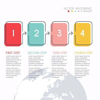 Colorful info graphics for your business presentations