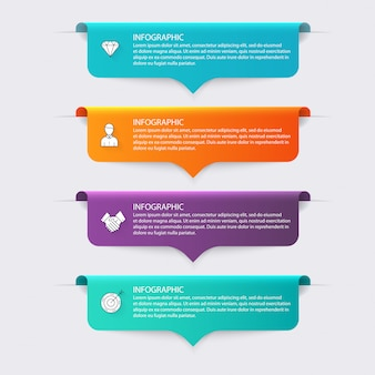 Colorful info graphics for your business presentations.