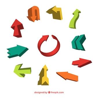 Colorful infographic arrows set