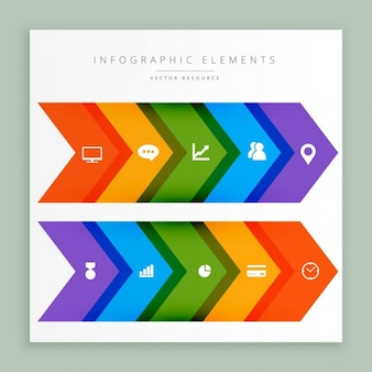 Colorful infographic arrows