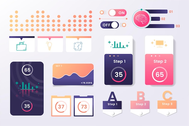 Colorful infographic element design