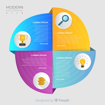 Colorful infographic element with icons