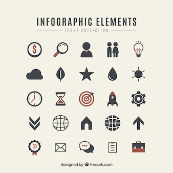 Colorful infographic elements collection in flat style