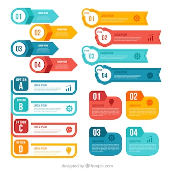 Colorful infographic elements collection