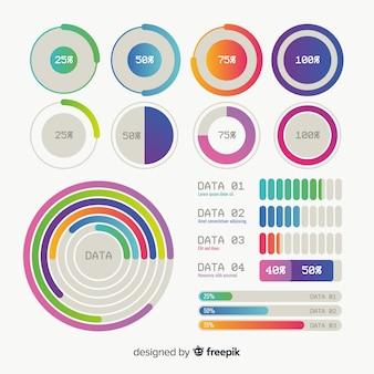 Коллекция красочных инфографики элементы