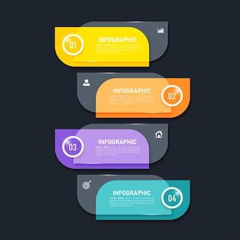 Шаблон красочных инфографических элементов