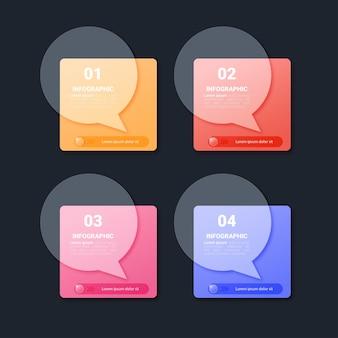 Шаблон красочных инфографических элементов Premium векторы