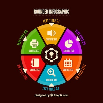 Colorful infographic in flat design Free Vector