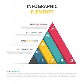 カラフルな三角形ビジネスインフォグラフィックテンプレート